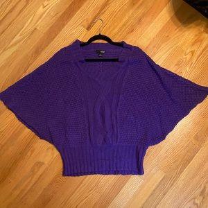 a.n.a bright purple batwing sweater
